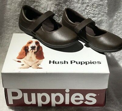 Hush Puppies Lexi School Shoe Brown Leather Reg $50 Now $32.99 Free Shipping!!!!