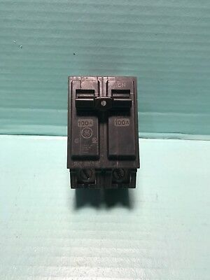 GE THQL21100 100A 2P 120/240V Circuit Breaker NEW STYLE