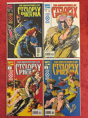 Adventures of Cyclops and Phoenix 1 2 3 4 Marvel RUN of 4 Complete VF+ Lobdell
