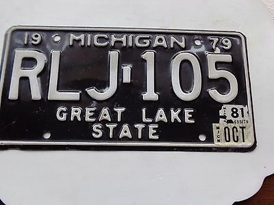 MICHIGAN  license plate  (OVER THREE YEARS OLD)