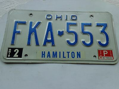 OHIO license plate  (OVER THREE YEARS OLD)