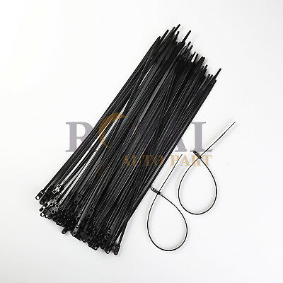 100 Pack 15 Inch Mounting Hole Zip Ties Nylon Black Nail Screw Wire Cable 40Lbs