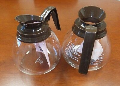 2 Pk - 12 Cup Commercial Coffee Pots/Carafes/Decanters for BUNN- Regular (Brown)