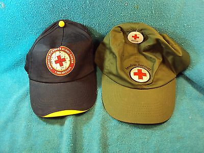 American RED CROSS Trucker Baseball Ball Type Cap Hat Lot