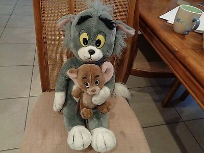 """Large Vintage Plush Tom Cat/ Jerry Mouse from Tom & Jerry 18"""" by Presents 1985"""
