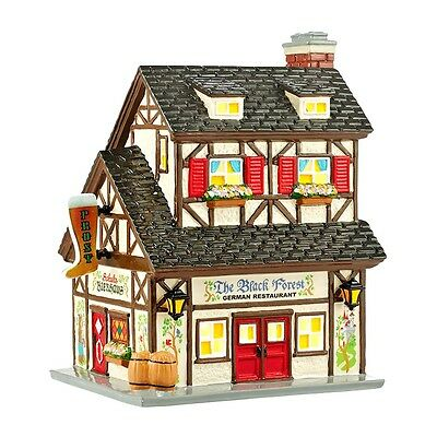 Snow Village Chow Town The Black Forest Restaurant Dept 56 4044856 Christmas New