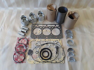 Kubota D722 Overhaul Kit / Liners, Pistons, Rings, Bearings, Gasket Set