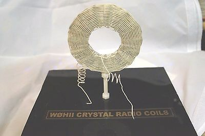 Diamond-Weave Crystal Radio Coil wound with vintage NOS DCC wire