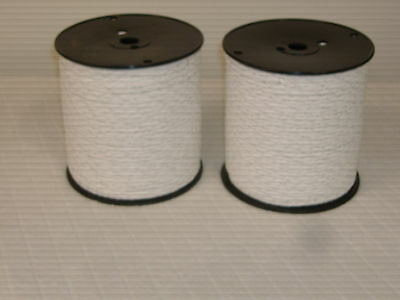 2 spools Electric fence rope 656 feet each spool 3 stainless wires 200 meters