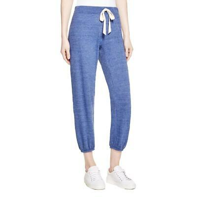 Nation LTD 1080 Womens Medora Navy Knit Cropped Athleisure Jogger Pants S BHFO