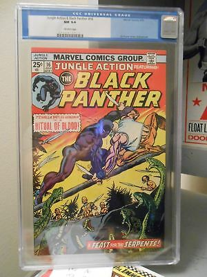 Jungle Action #16 ==> Cgc 9.4 Featuring The Black Panther Marvel Comics 1975