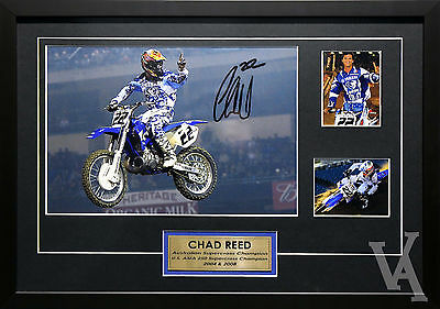 Chad Reed Team Yamaha Motocross Champ Signed & Framed Memorabilia