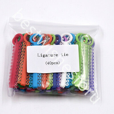 1040 Pcs Dental Ligature Ties Orthodontics Elastic Rubber Bands Multi Color