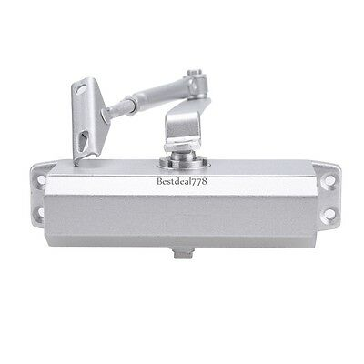Silver 45-65 KG Aluminum Commercial Door Closer Two Independent Valves Control