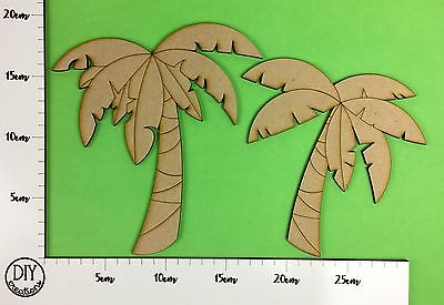 MDF Palm Trees - Set of 2 - Wooden Craft Shapes - DIY Decor for Adults and Kids