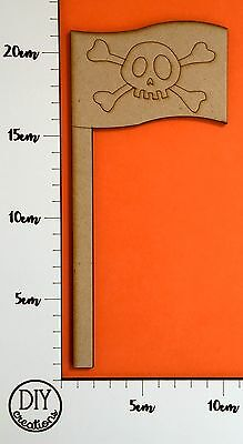 MDF Pirate Flag - Wooden Craft Shape - DIY Decor for Adults and Kids