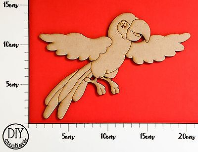 MDF Parrot - Wooden Craft Shape - DIY Decor for Adults and Kids
