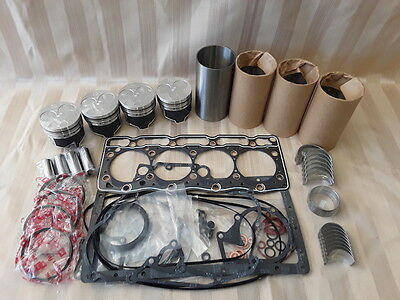 Kubota V1505 Overhaul Kit / Liners, Pistons, Rings, Bearings, Gasket Set