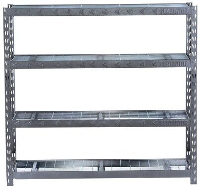 4 Shelf Welded Steel Garage Shelving Unit Heavy Duty Tie Bar Design NSF Cert