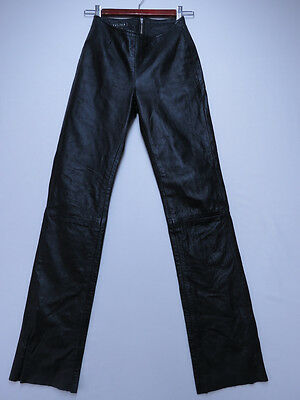 *d-174 Vintage Aussie Made Atelier Leather Motorcycle Biker Pants Jeans Size 6