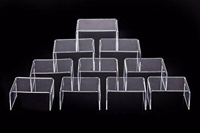"Clear Acrylic Display Risers Showcase for Jewelry 4""x 3''x 2'' Lot of 10 PCS"