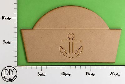 MDF Sailor Hat - Wooden Craft Shape - DIY Decor for Adults and Kids