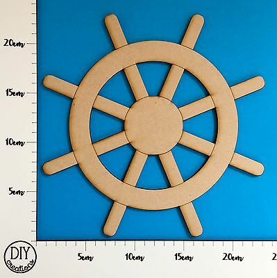 MDF Ship's Wheel - Wooden Craft Shape - DIY Decor for Adults and Kids