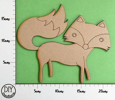 MDF Fox - Wooden Craft Shape - DIY Decor for Adults and Kids