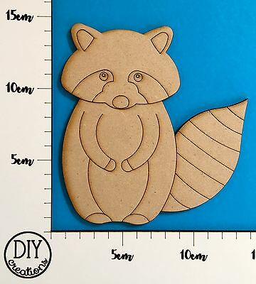 MDF Raccoon - Wooden Craft Shape - DIY Decor for Adults and Kids