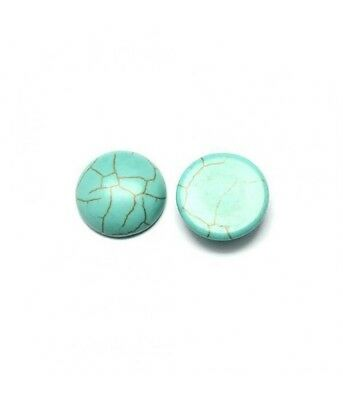 Perles pierre synthétique turquoise ronde 20 mm (1 pièce)