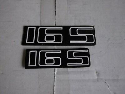 "Lot de 3 monogrammes ""16S"" d'origine VOLKSWAGEN GOLF"