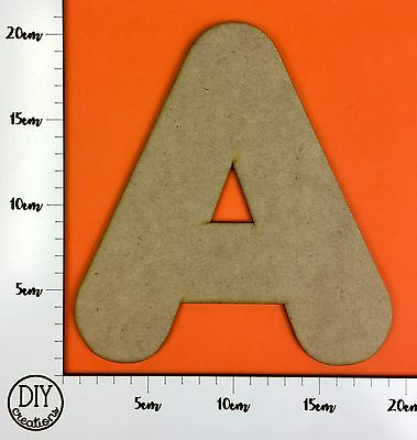 Large MDF Letters & Numbers - 20cm high - Craft Shapes - priced per letter