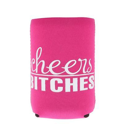 Cheers Bitches Beer Bottle Tin Can Cooler Sleeve Holder Party Favor