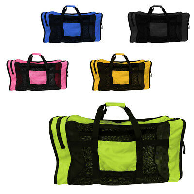 Heavy Duty Foldable Mesh Dive Bag Duffel Bag Storage Pouch for Diving Scuba