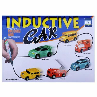AU Toy Car Top Follow Any Drawn Line Magic Pen Inductive Model Include Battery