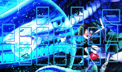 F174+ Free Mat Bag Seto Kaiba Blue Eyes White Dragon Playmat Yugioh Playmat Zone