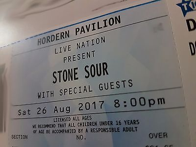 2x Stone Sour Tickets Hordern Pavilion Sydney August 26th 2017