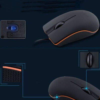 Non-Slip Lenovo Mouse 1000DPI USB3.0 3D Optical Wired Mice For PC Laptop