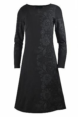 Tattopani ladies long sleeve dress with side print & sleeve print