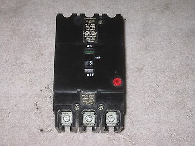 General Electric GE TEY TEY315 3 pole 15 amp 480v Circuit Breaker