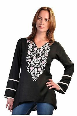 Tattopani Ladies Long Sleeve Tops With Aari Neck Design