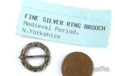 Medieval English Silver Annular Brooch - Yorkshire C1500
