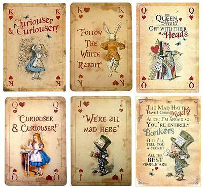 Edible Vintage Playing Cards Alice in Wonderland Icing Decor Plus