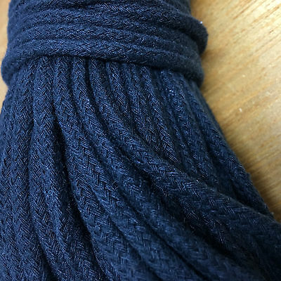 BLACK MACRAME ROPE - 50m - boho/wallart/cord/planthanger - 5-6mm THICK SOFT CORD