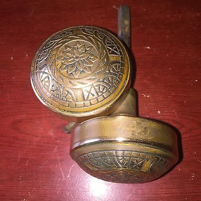 Antique Pair Of VICTORIAN ERA Windsor DOOR KNOBS. SOLID BRASS