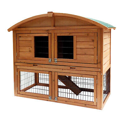 Chicken Coop Hen House Poultry - Large Run Pet Hutch Bunny House