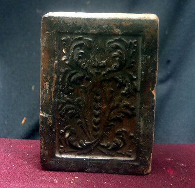 Very rare Tile with a decor leave Belgium late 17th. century