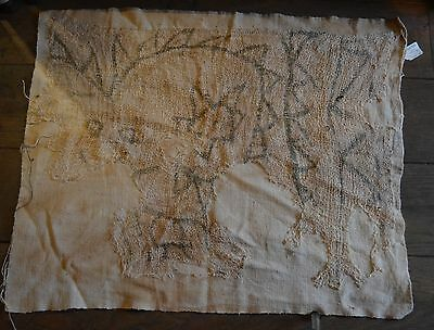 Interesting Pre Columbian textile with painted decor Chancay culture