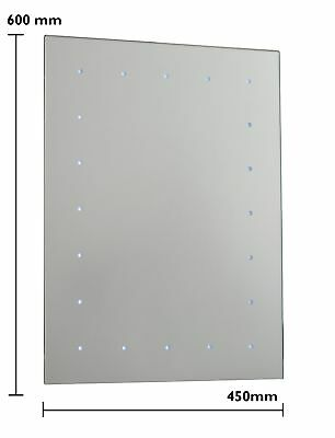 Battery Operated LED Illuminated Bathroom 600mm Mirror IP44 - No Wiring Required