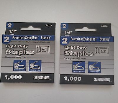 "2000 - 1/4"" Staples for the Swingline #101- Vintage Staple Gun Staples"